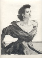 A fashion model (This was drawn from a magazine).